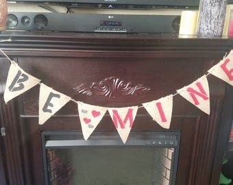 Burlap Be Mine banner
