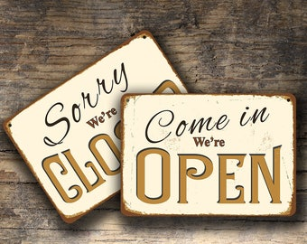 OPEN CLOSED SIGNS, Open Closed Sign, Open Closed Signs Vintage style, Open Sign, Closed Sign, Custom Open Closed Signs, Open Closed, Signs