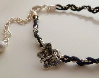 Butterfly braided bracelet