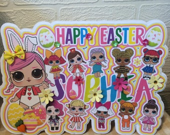 Lol surprise dolls, Lol surprise doll Easter card, Lol surprise dolls birthday card, Lol surprise dolls birthday card, Lol surprise card,