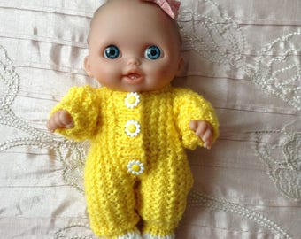 """Hand knitted dolls clothes to fit 8"""" Berenguer L'il Cutsie doll/Lots to Love doll"""
