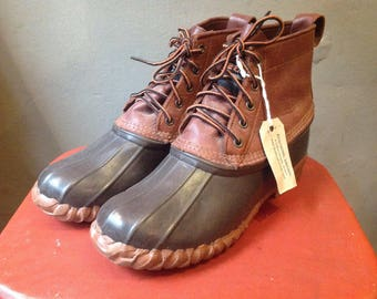 Vintage Kenetrek duck hunting rain snow boots rubber leather LL Bean US size 9 uk 8.5 EUR 42 outdoor rugged