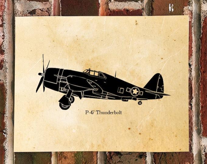 KillerBeeMoto: Limited Print P-47 Thunderbolt Aircraft Print 1 of 50