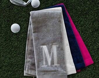 Monogrammed Towel, Golf Towel, Personalized Golf Towel
