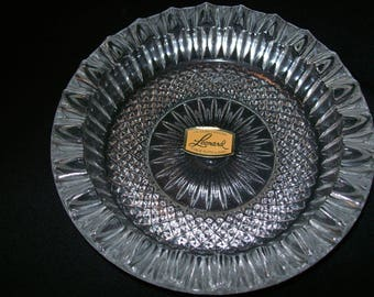 Lead Crystal Ashtray/bowl made by Leonard Silver Manuf. Co. in England