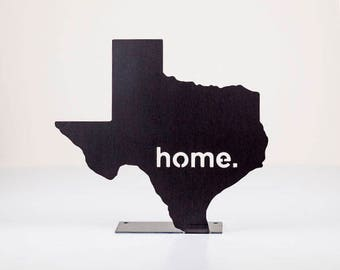 Texas Home State Steel Sign - Metal State Wall Decor