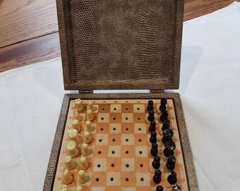 Vintage travel chess