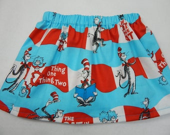 Dr Seuss girls skirt----skirts for babies, toddlers and girls----precious for a birthday party