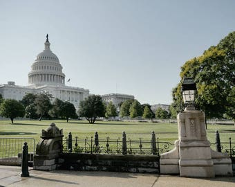 Washington DC photo print, washington dc photography, us capitol hill, dc park art print, DC architecture art print, DC wall decor picture