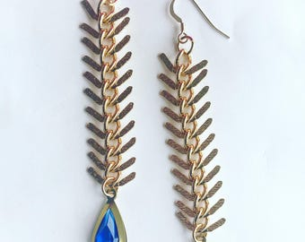 Loyalty: Chain and Faceted, Acrylic Bead Earrings
