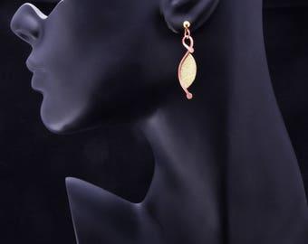 Brass and Copper Earrings, Dangle Earrings, Contemporary Earrings, Handmade, Boho, Bohemian, Modernist Earrings, Boho Chic, Abstract