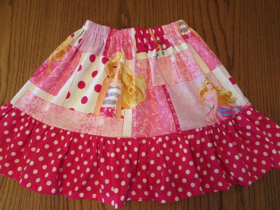 Barbie skirt,Barbie cotton skirt,Barbie clothes,Barbie gift,gift for girl,toddler Barbie,Barbie ruffle skirt,Barbie birthday,Barbie party