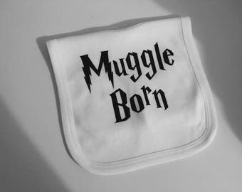 Harry Potter Themed Baby Bib - Muggle Born 100% Cotton