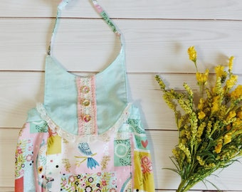 Vintage Romper, Baby Romper, Toddler Romper, Baby Sunsuit, Vintage Sunsuit, Vintage and Lace Baby, Baby Boho, First Birthday Outfit