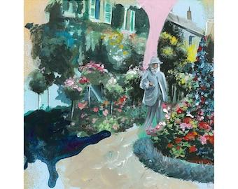 A3 Monet's Garden - Fine Art Giclee Print