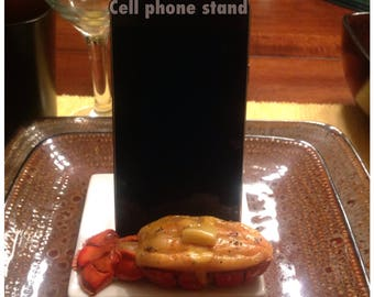 Customized, made to order, food themed, Cellphone  holder