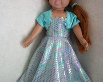 """Strapless party gown for 18"""" doll"""