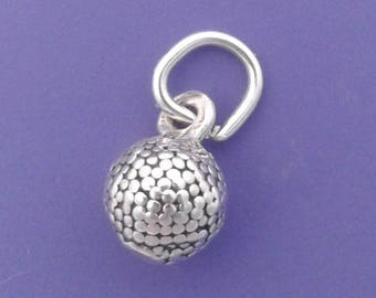 GOLF BALL Charm .925 Sterling Silver Golfer Miniature Small - lp3558