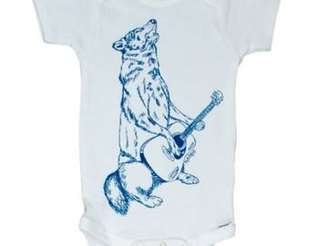 Wolf baby clothes