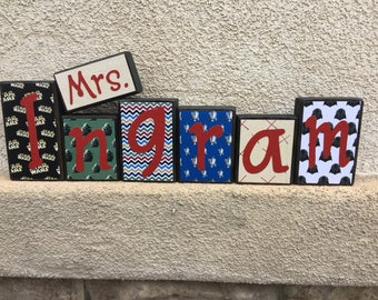 Teacher's Name blocks - Star Wars