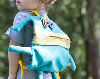 Toddler backpack, travel monster, monster bag