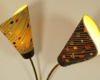 50s wall lamp, wall sconce, cone shaped, Rockabilly, Vintage
