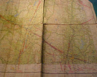 Eight (8) Vintage Maps   Sectional Aeronautical Charts 1930's and 1940's