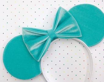 Seafoam Velvet Mouse Ears