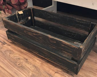 Wood storage box/Storage bin/Under bed storage/Wood box on casters & Wood storage box | Etsy Aboutintivar.Com
