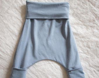 Soft Blue Slouchy Pants in Bamboo
