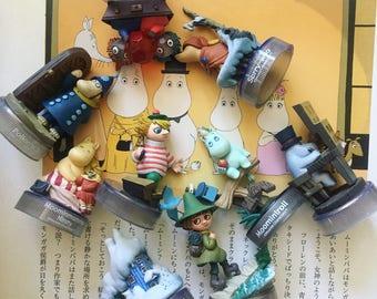 Kawaii 9 rare Moomin bottle caps / figurine toys from Japan