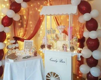White PVC Candy Cart - no need to paint