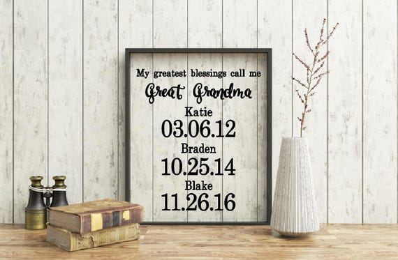 My greatest blessings call me Grandma Quote, Floating Frame, Quote, Grandparents quote, Family tree frame, Grandparent gift, Great Grandma