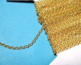 16 ft/spool Gold Plated Cable Chain Links-Opened  ( NO.224)