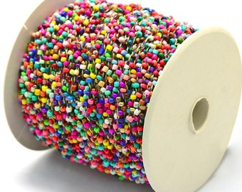 30ft/Spool Colorful Opaque Seed Beads Beaded Cord