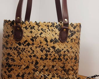 Brown Paw Tote Bag & Clutch