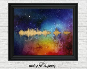 New Waveform (Voice Print Sound Wave) Art!  Live Long and Prosper Star Trek Inspired Movie Quote