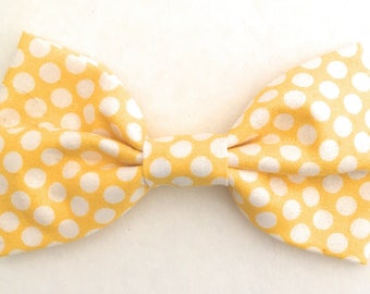 Mens Polka Dot Bow Tie, Yellow Bow Tie, Mens Bowtie, Men's Yellow Bow Tie, Mens Bowties, Bow Ties, Bow Ties are Cool, Boys Bowties