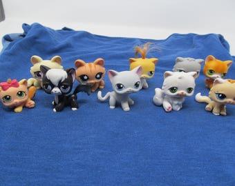Littlest Pet Shop Set of 10 Cats