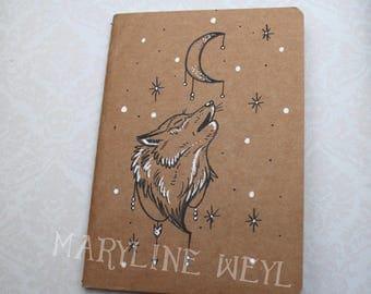 """Sketchbook - Notebook Kraft """"Wolf"""""""