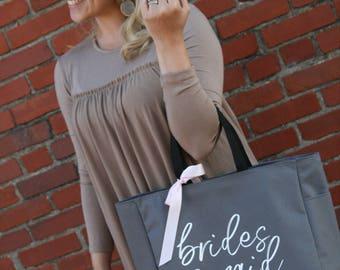 bridesmaid tote, wedding tote, bride tote, bridesmaid gift, bridesmaid bag, wedding gift,  bridal party totes