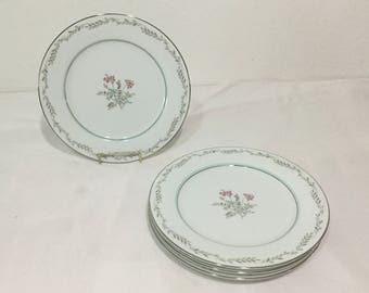 Noritake BRYCE 5608  LOT 4 Salad Plates Vintage 60'S Fine China Japan