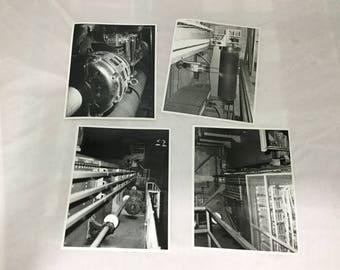 LOT of 4 Vintage Hoover Dam Interior Photos on Kodak paper 8 x 10 1960s Boulder City B