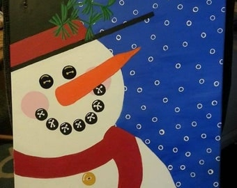 Holiday/Winter Canvas Painting