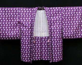 Vintage Kimono / Japanese Silk Haori Jacket / Kimono Cardigan / Short Robe / 021505