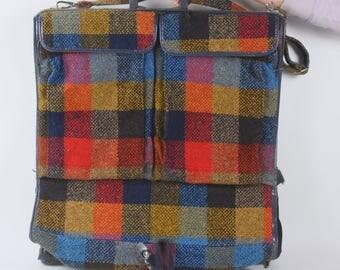 Vintage Skyway Plaid Travel Luggage Garment Bag 1970s Travel Gear