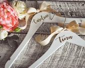 Personalized Wedding Hangers - Wedding Dress Hanger - Bridesmaid Gift