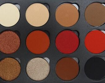 Egyptian Sunrise eyeshadow Palette Shimmer eyeshadows  Pigmented eyeshadow Bright eyeshadow cruelty free makeup