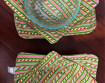 Christmas Microwave bowl cozies SET OF TWO / sizes / bowls not included