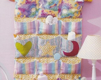 Baby Nursery Wall Pockets Organizer Sewing Patern - INSTANT DOWNLOAD